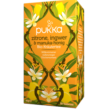 Pukka Zitrone, Ingwer & Manukahonig Bio-Tee (20 Beutel)