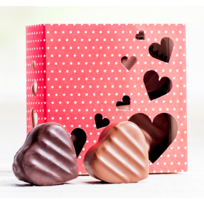 Heart box of pralines &...