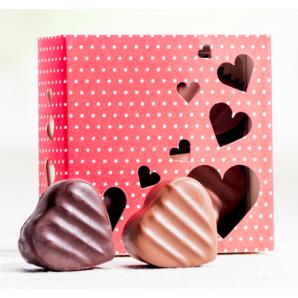 Heart box of chocolates &...