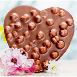 Heart with milk chocolate /...
