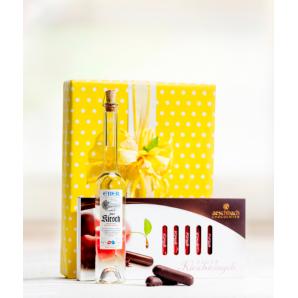 Kirschstängeli und Zuger Kirsch-Set - Aeschbach Chocolatier