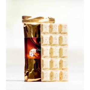 Tafel Weiss mit Nougatsplitter - Aeschbach Chocolatier (100g)