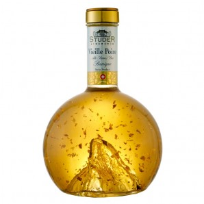 Studer -  Vieille Poire Williams mit echtem Goldflitter, 22 Karat, (70cl)