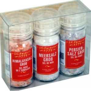 3er Box Salz assortiert - J.C. Fridlin (35g)
