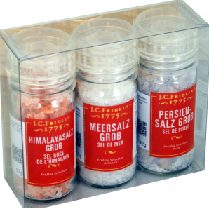 Box of 3 assorted salts -...