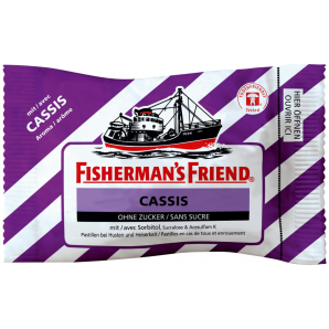 Fisherman's friend Cassis ohne Zucker (25g)