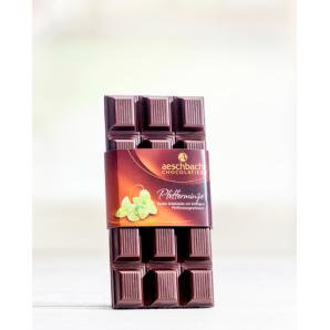 Tafel Dunkel Mit Pfefferminze Aeschbach Chocolatier (100g)