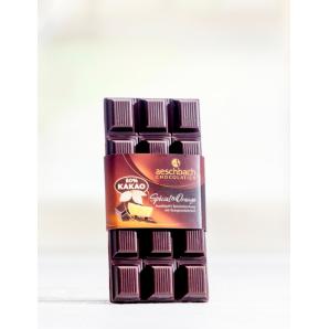 Dark chocolate bar with orange peel Aeschbach Chocolatier (100g)