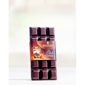 Tafel Criolloro 66% Mit Chili Aeschbach Chocolatier (100g)