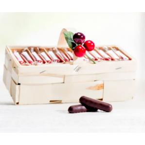 Aeschbach Chocolatier Spankörbli with Cherry Sticks (500g)
