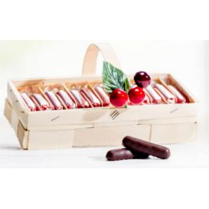 Aeschbach Chocolatier Spankörbli with cherry sticks (250g)