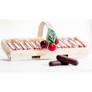 Aeschbach Chocolatier Spankörbli With Cherry Sticks (125g)