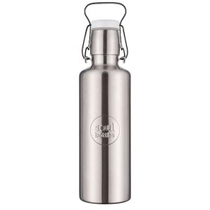 Soulbottle steel grey with handle (0.6l)