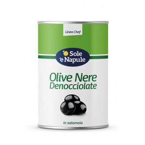 o Sole e Napule entsteinte schwarze Oliven (4,05Kg)
