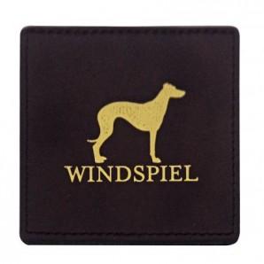 Windspiel Lederuntersetzer