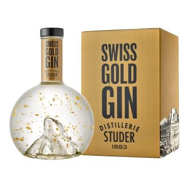 Studer Swiss Gold Gin mit echtem Goldflitter, 22 Karat, (70cl)