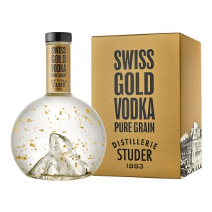 Studer - Swiss Gold Vodka mit echtem Goldflitter, 22 Karat, 70cl