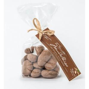 Küsnachter Mandelküsse Milchschokolade 37% mit Kärtli (100g)