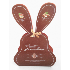 Küsnachter Almond Kisses Dark Chocolate 58% Easter Bunny (100g)