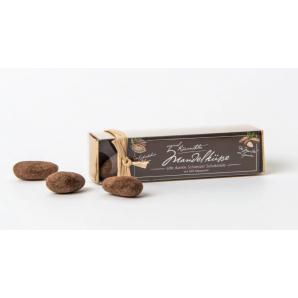 Küsnachter Mandelküsse Zartbitter Schokolade 58% in der Goldschachtel (70g)
