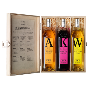 Etter Gift Wooden Box The Natural Fruity 3 (3x35cl)