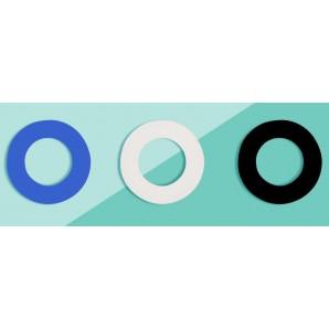 Soulbottle Gummiringe blau weiss schwarz (3 Stk)