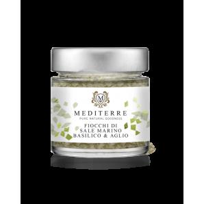 MEDITERRE Sea Salt Flakes with Basil & Garlic (80g)