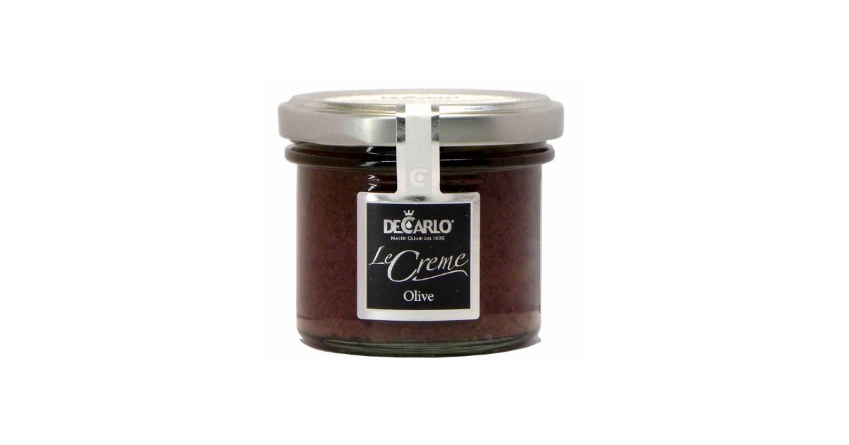 De Carlo Crema di Olive nere (90g)