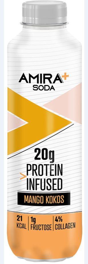 Image of Amira+ Soda Protein Infused Mango & Kokos (500ml)