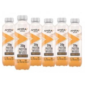 Amira+ Soda Protein Infused Mango & Coconut (6 x 500ml)