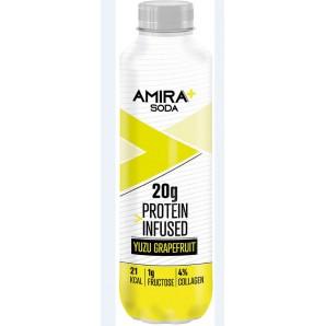 Amira+ Soda Protein Infused Yuzu & Grapefruit (500ml)