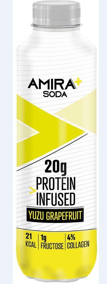 Image of Amira+ Soda Protein Infused Yuzu & Grapefruit (500ml)