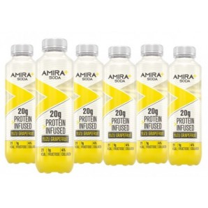Amira+ Soda Protein Infused Yuzu & Grapefruit (6 x 500ml)