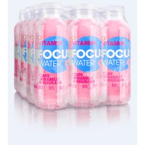 FOCUS WATER - care Mirabelle/Rhabarber (12x50cl)