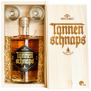 Tannenschnaps Holzbox (50cl)